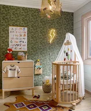 cuna de madera para bebes de Stokke