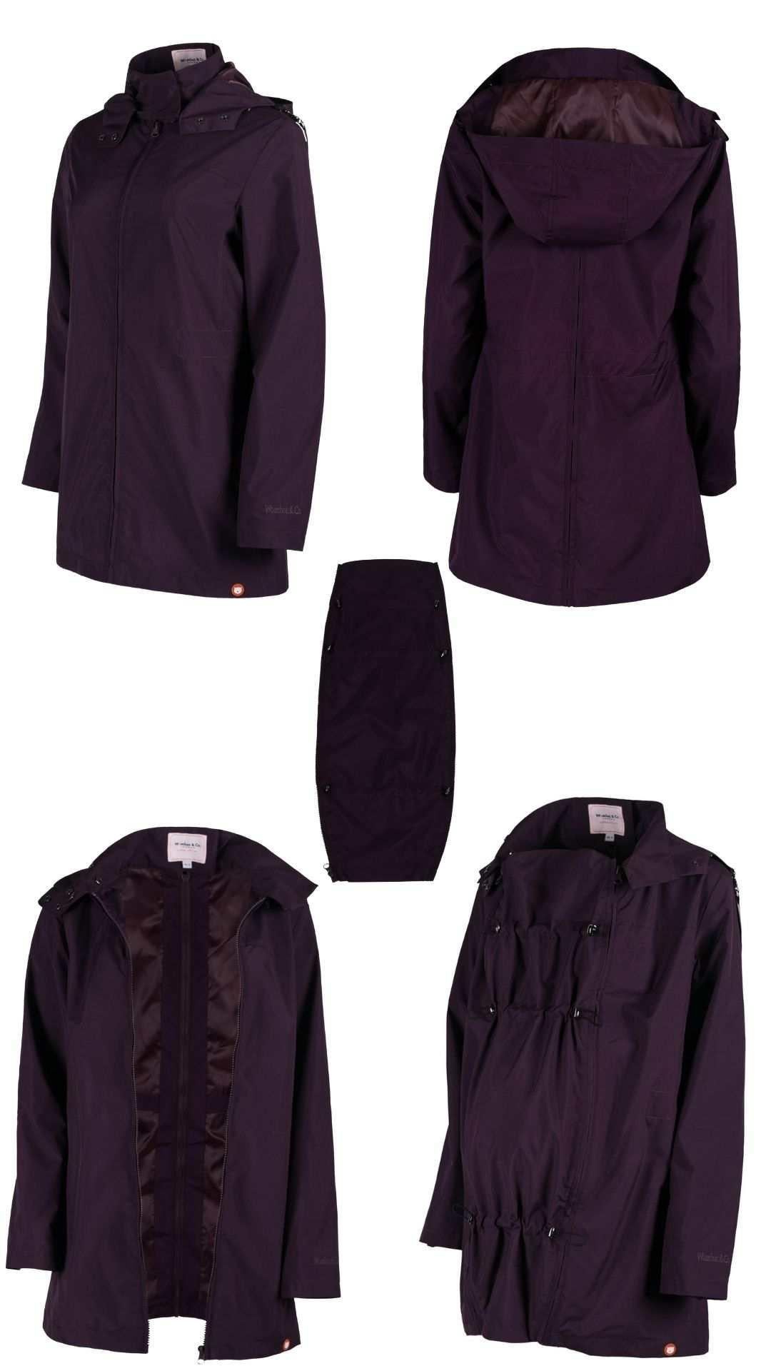 chaqueta portabebe y premama numbat go morada