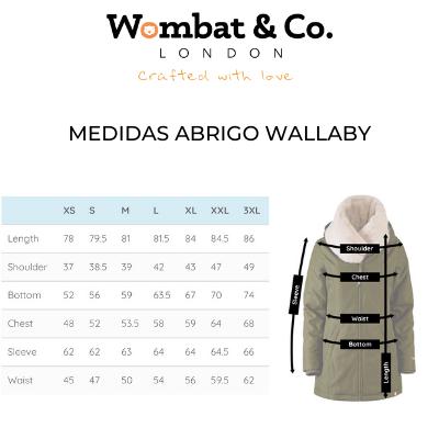 medidas abrigo wallaby