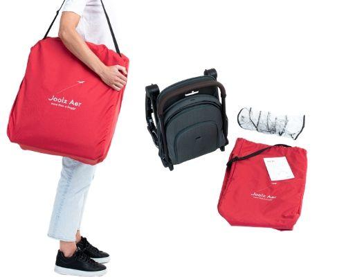 bolsa transporte y accesorios incluidos en la silla joolz aer