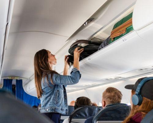 silla ligera homologada en cabina de avion