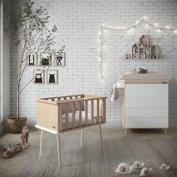 minicunas de madera para bebés