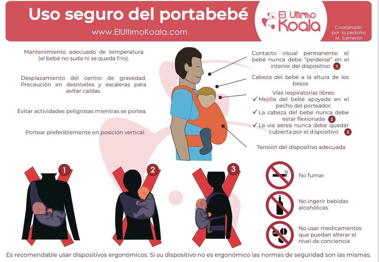 uso seguro y correcto del fular de porteo para bebes