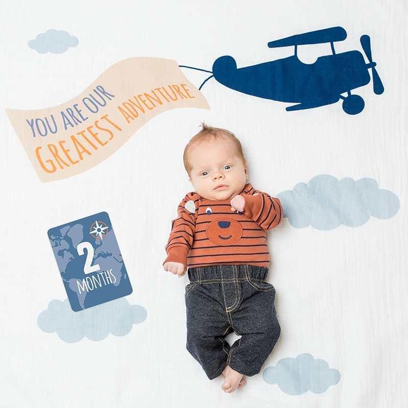 set regalo bebe primera puesta de tejido de muselina